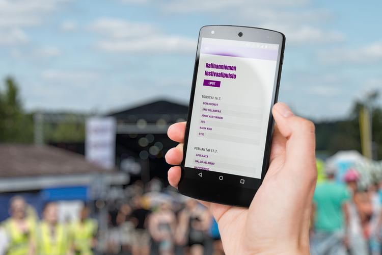 Tapahtuman verkkosivun täytyy toimia parhaiten mobiilaitteilla.