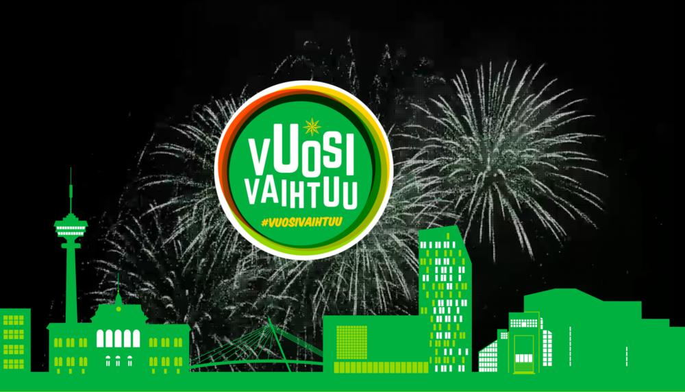Vuosivaihtuu.fi -sivuston ilme vuonna 2015.