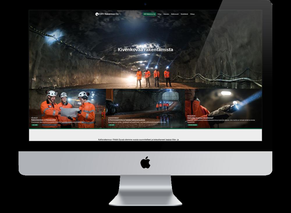 Atomin suunnittelemat KRY Rakennus Oy:n verkkosivut on jo julkaistu. KRY Rakennus on Kalliorakennus-Yhtiöiden tytäryhtiö.