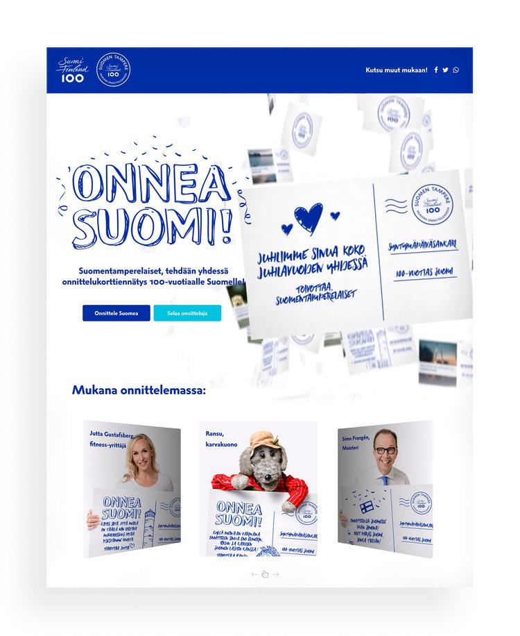 Käy onnittelemassa Suomea ja katsomassa onnitteluvideot!