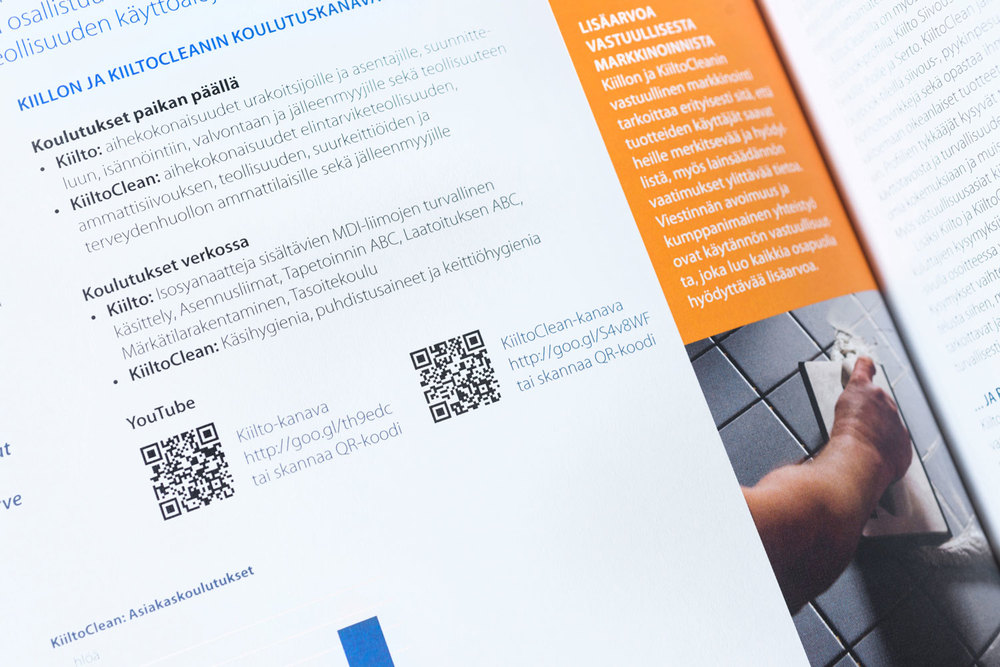 Painetun version mobiilikoodit ohjaavat lisätiedon ääreen verkossa.