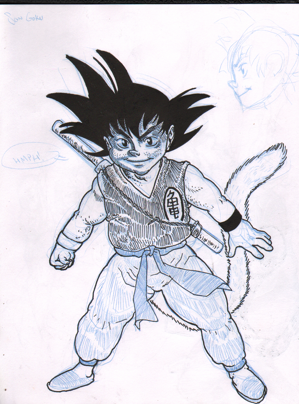 Son Goku. The ONLY fan art I've done in years.