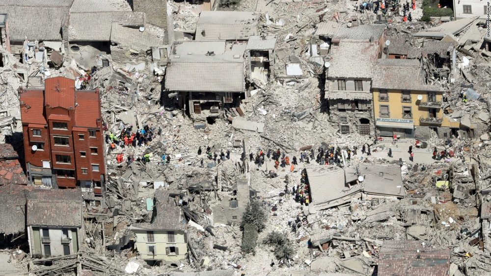 Amatrice after the earthquake this past August
