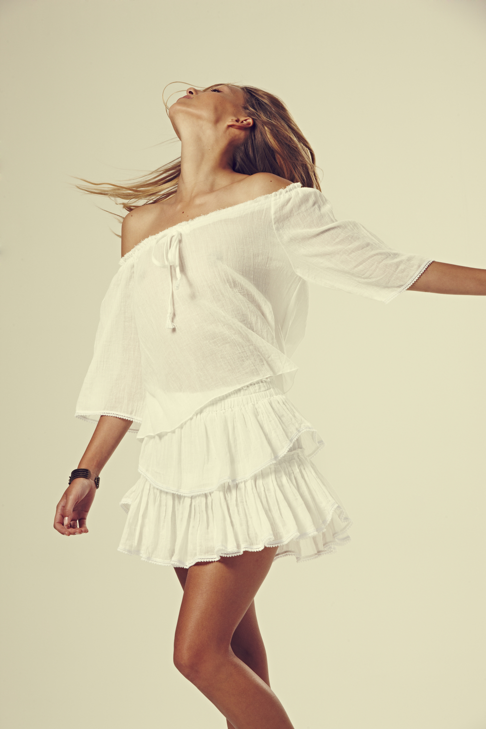 gypsy top and ruffle mini skirt in cotton gauze white.jpg