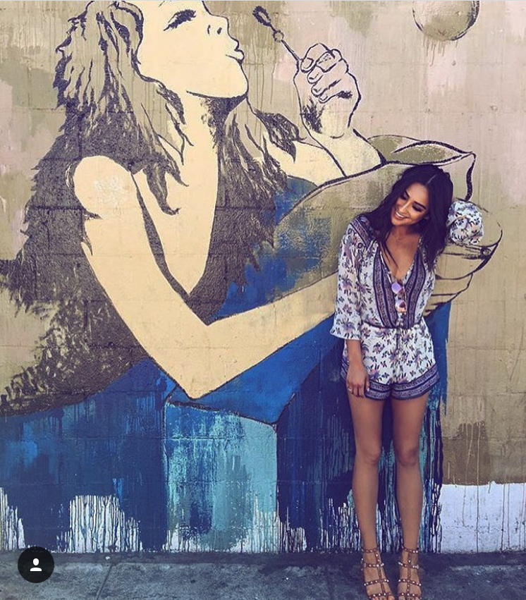 Shay mitchell in our playsuit