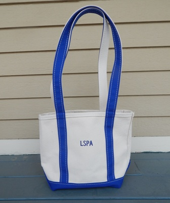 Tote Bag  (4 inches across, 10 inches wide, 10 inches deep)  $25.00