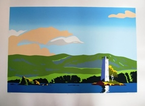 Loon Island Serigraph  (26 by 35 inches including white border)  $35.00