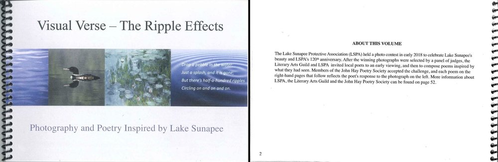 52 Page Book of Photographs and Accompanying Poetry   $ 15.00                                    Member Cost $ 10.00