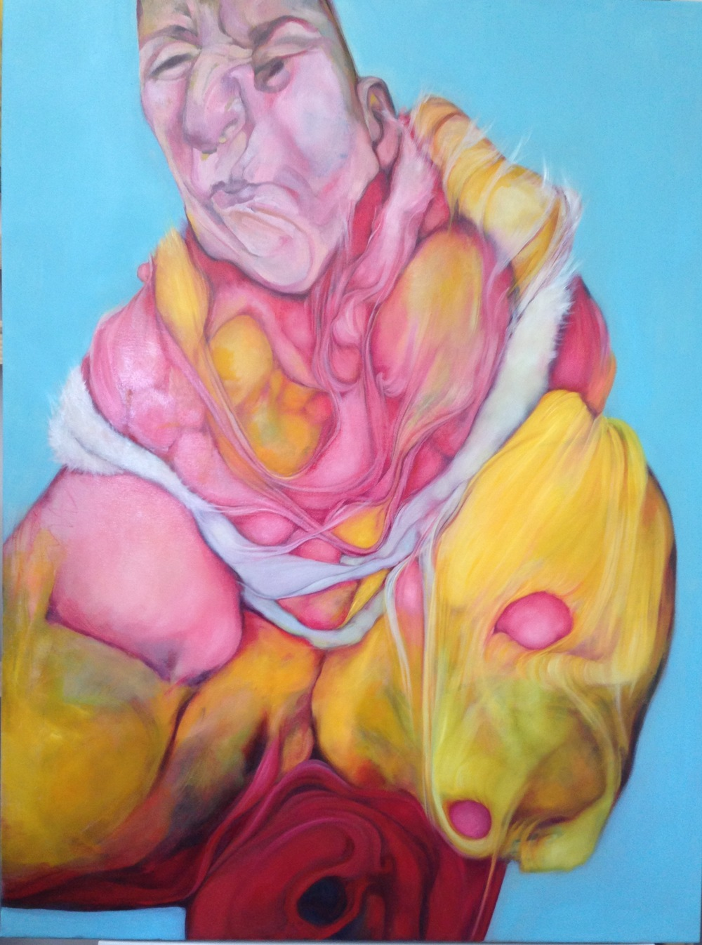 "Perri Neri,  Crone,  2015, oil on canvas, 41"" x 31"""