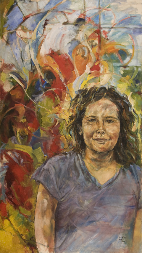 "Tori in Springtime, 2003, oil/canvas, 32""x58"""