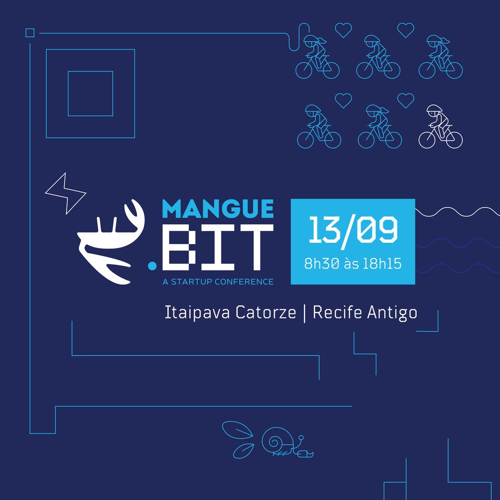 Arte para a Mangue.Bit feita pelo  Estúdio Cargo , que faz parte da comunidade empreendedora.