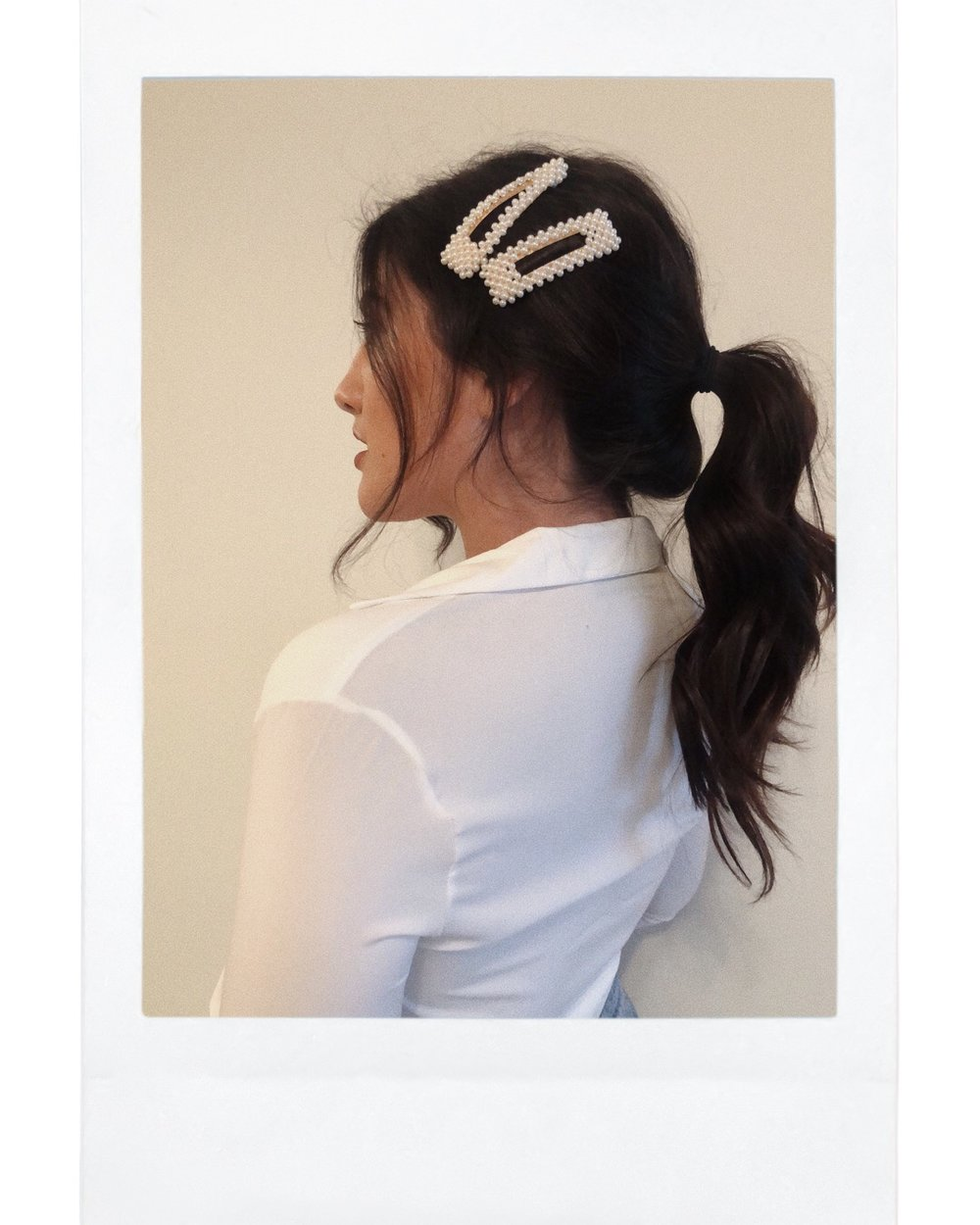 Ponytail - This was my favorite look out of all the ways I styled them. It is so casual & fabulous at the same time.