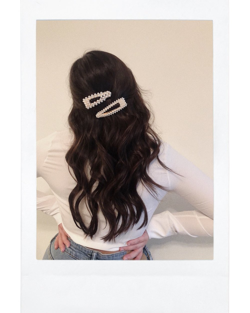 2 on the back - When you need to get your hair out of your face but still want to wear them! Grab a small section of your hair on both sides and use 1 clip per section (or else it will be too thick and won't hold).