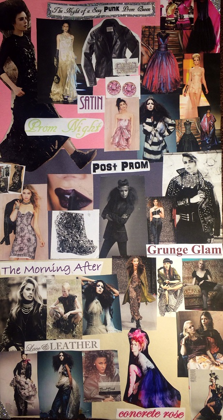 The mood board created after I dreamtup the concept (: