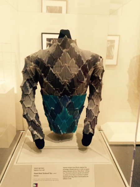 I also loved this Japanese top found in the Asian Art exhibit. I thought the textures and shapes were really interesting to look at.