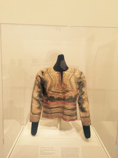 Beautiful top in the African Art Exhibit. Cotton ground and lining. Cotton Appliqué. Cotton and silk embroidery threads.