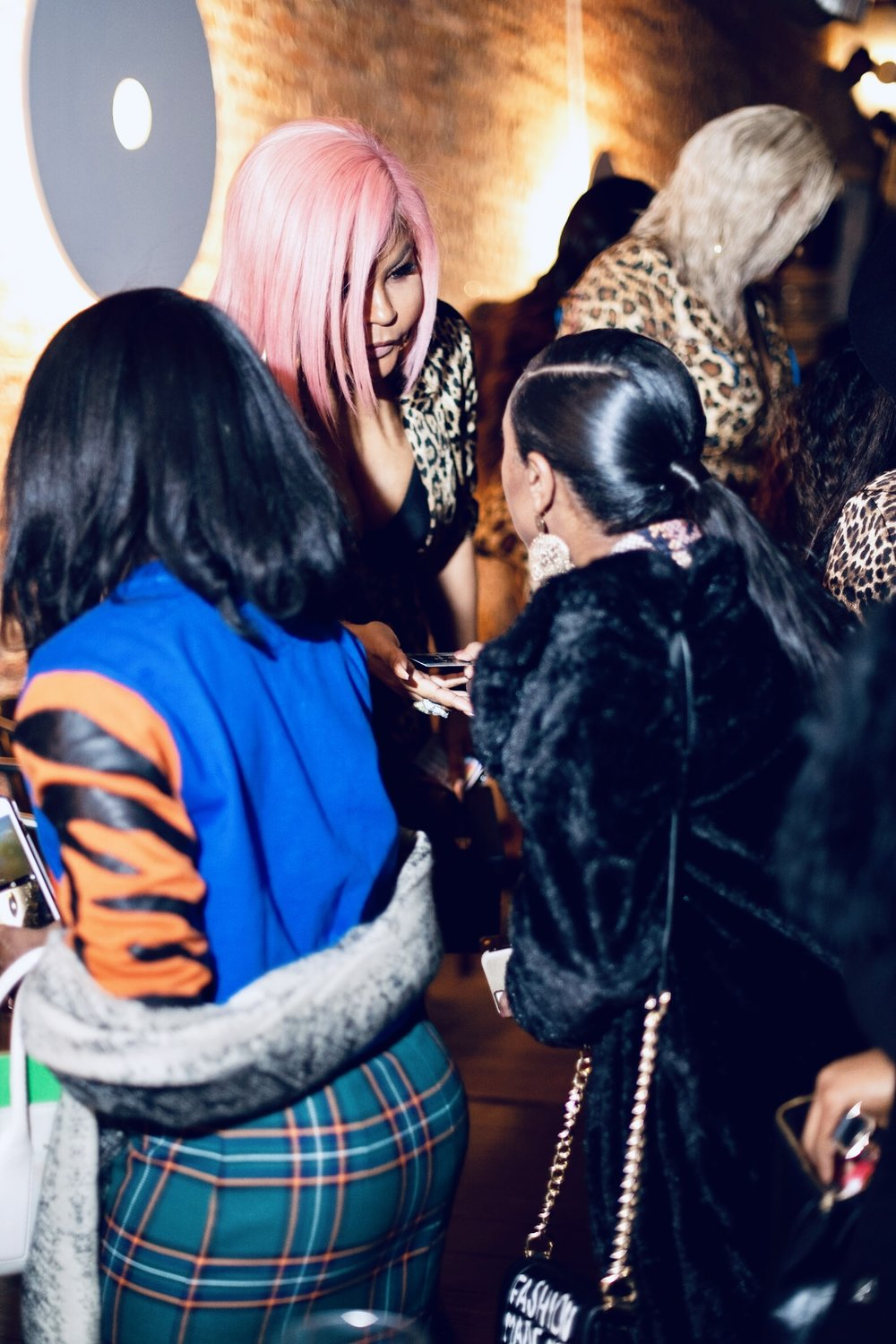 Me introducing myself to legendary stylist Misa Hylton at the  Convos with Claire networking event  in December 2018.