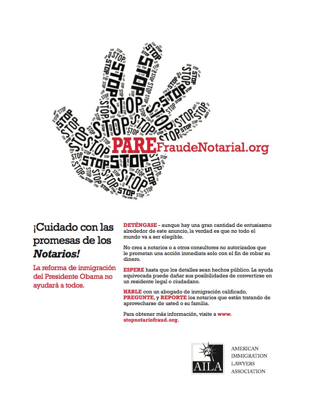 Pare Fraude Notarial