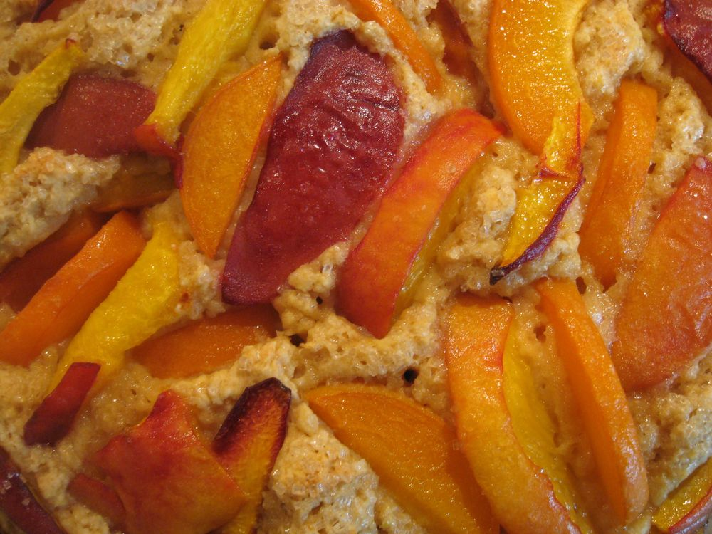 buttermilk stone fruit cake