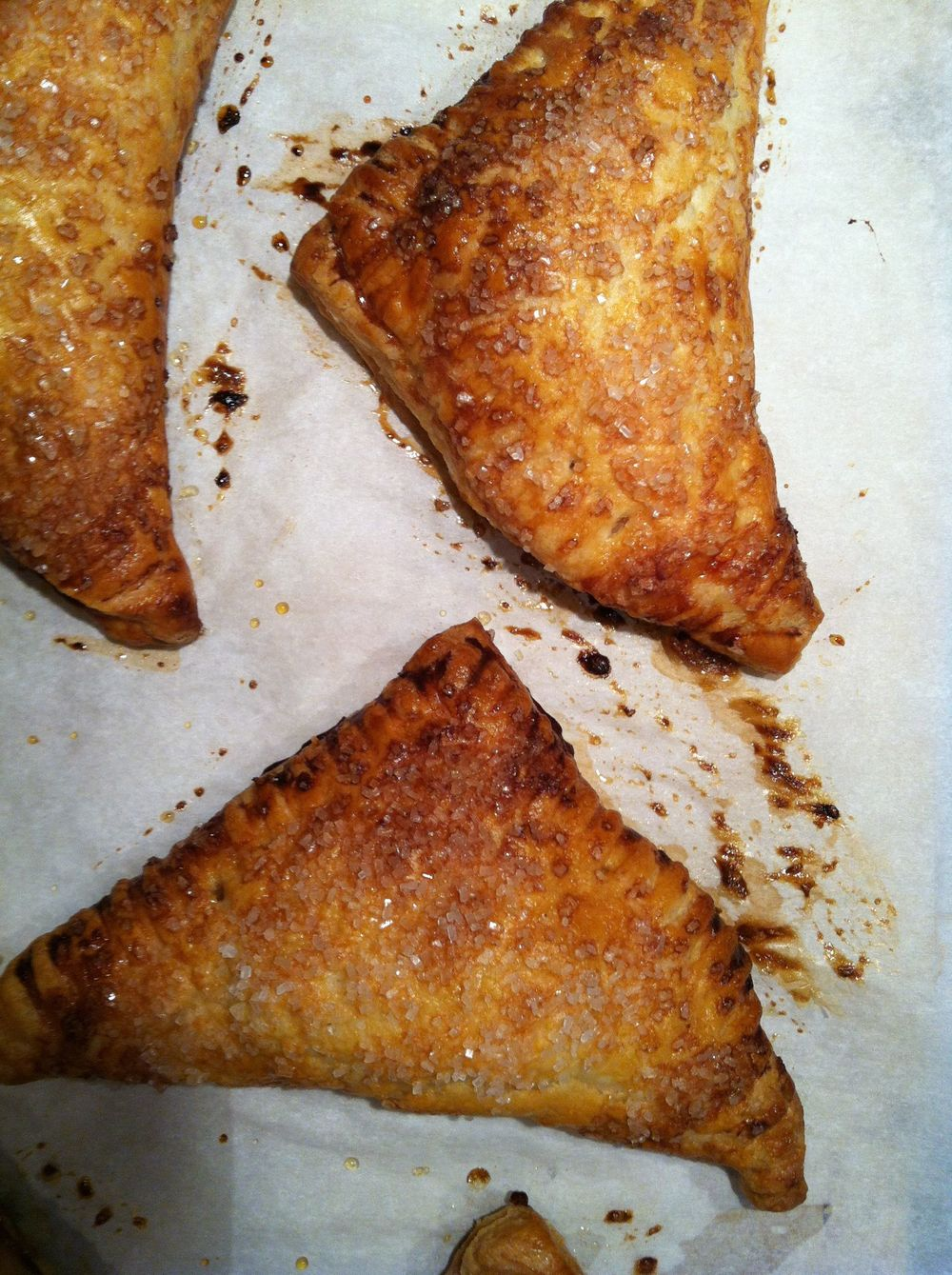 Apple turnovers, part of my kitchen to-do list.