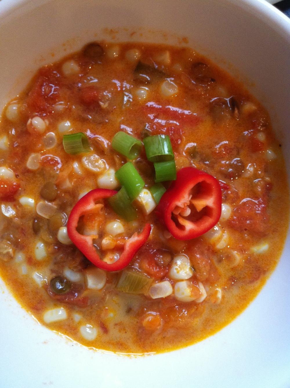 corn tomato soup