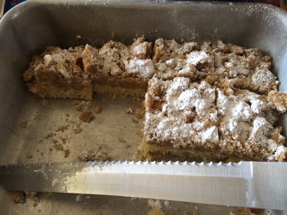 coffee cake cut