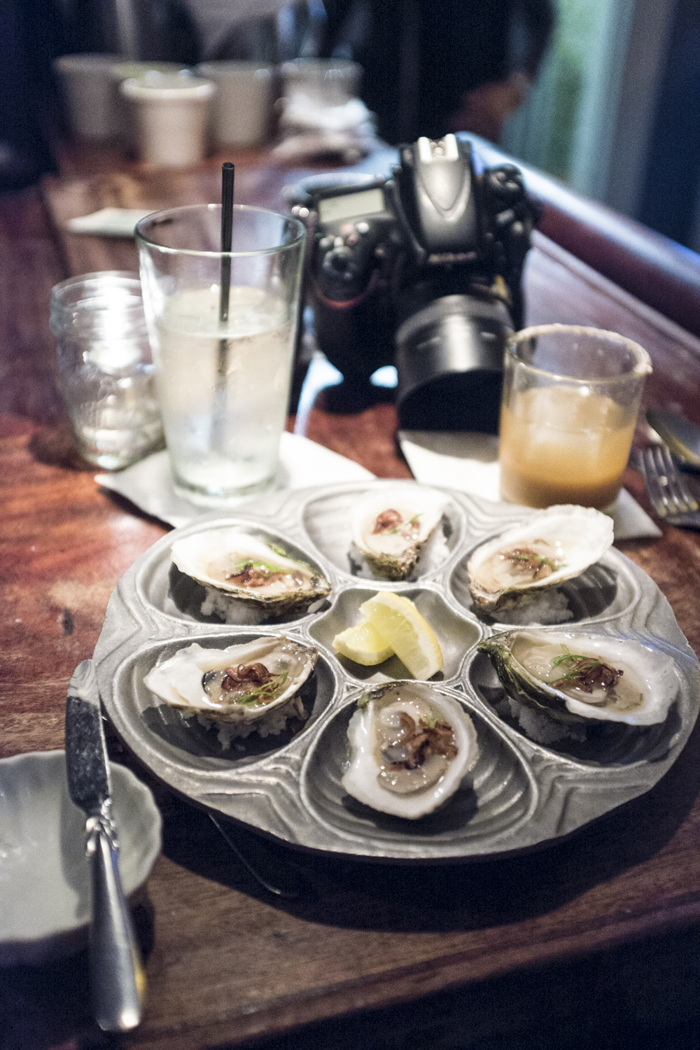 Oysters at the bar. Bolete. Photo by Ryan Hulvat.