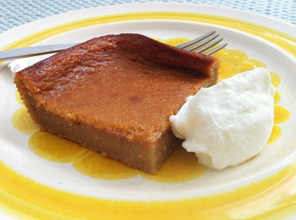 Pawpaw pudding. Kind of like a super moist cake.
