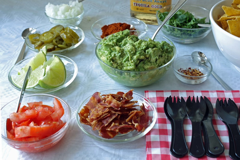 Deluxe Guacamole and Salsa Bar. Photo Courtesy Matthew Robinson/ The Culinary Exchange .