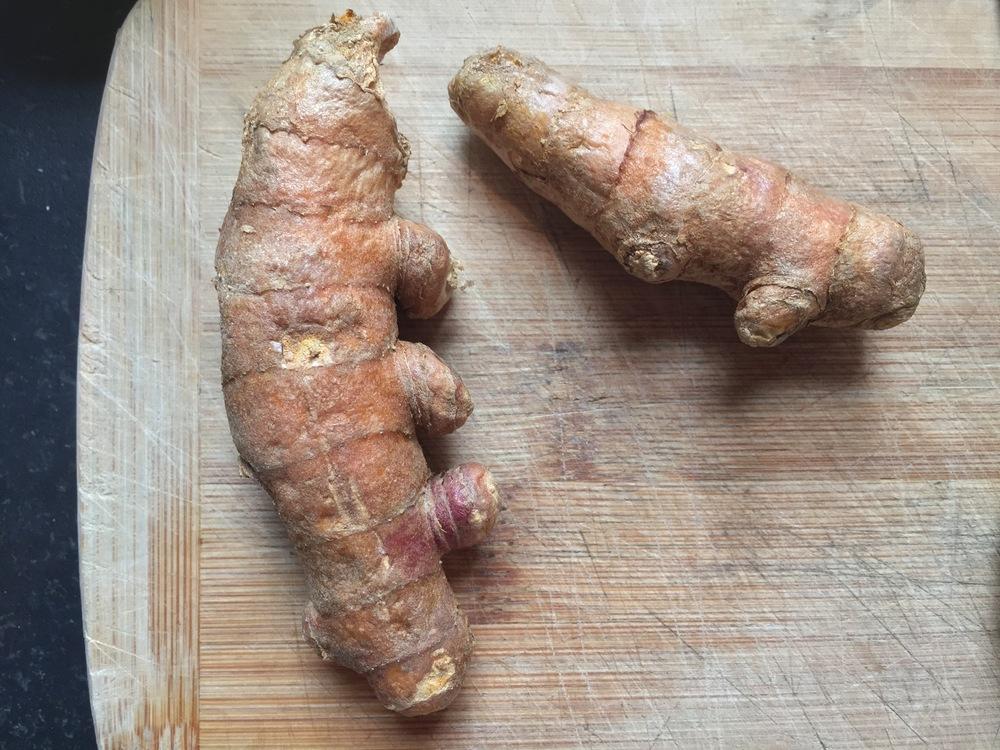 Turmeric root.
