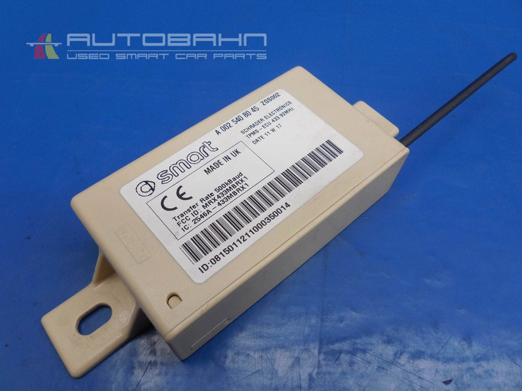 fortwo passion pure 2008-2013 oem tpms control module