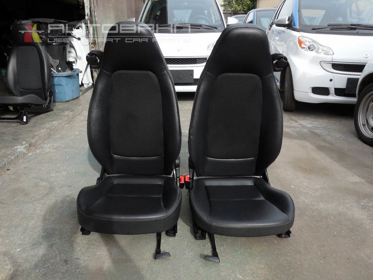 Fortwo Passion Pure OEM Pair Of Left Right Seats Black Vinyl Mesh