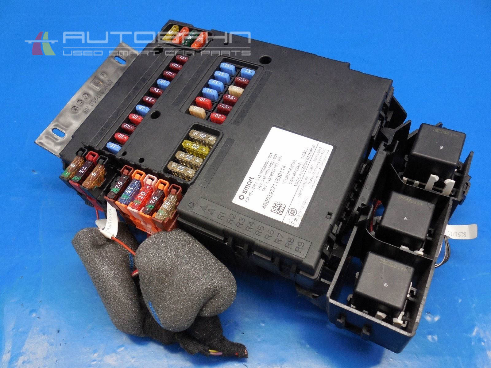 Fortwo Passion Pure 2008 2015 Oem Complete Fuse Box Relay Board 01