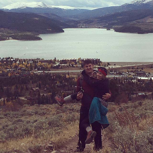When a 10 mile hike isn't enough exercise, lift your significant other up and finish the trek. Or maybe just lift them up for 10 seconds.  #ithrewinasquatforgoodmeasure #mountainlife #coloradotransplants