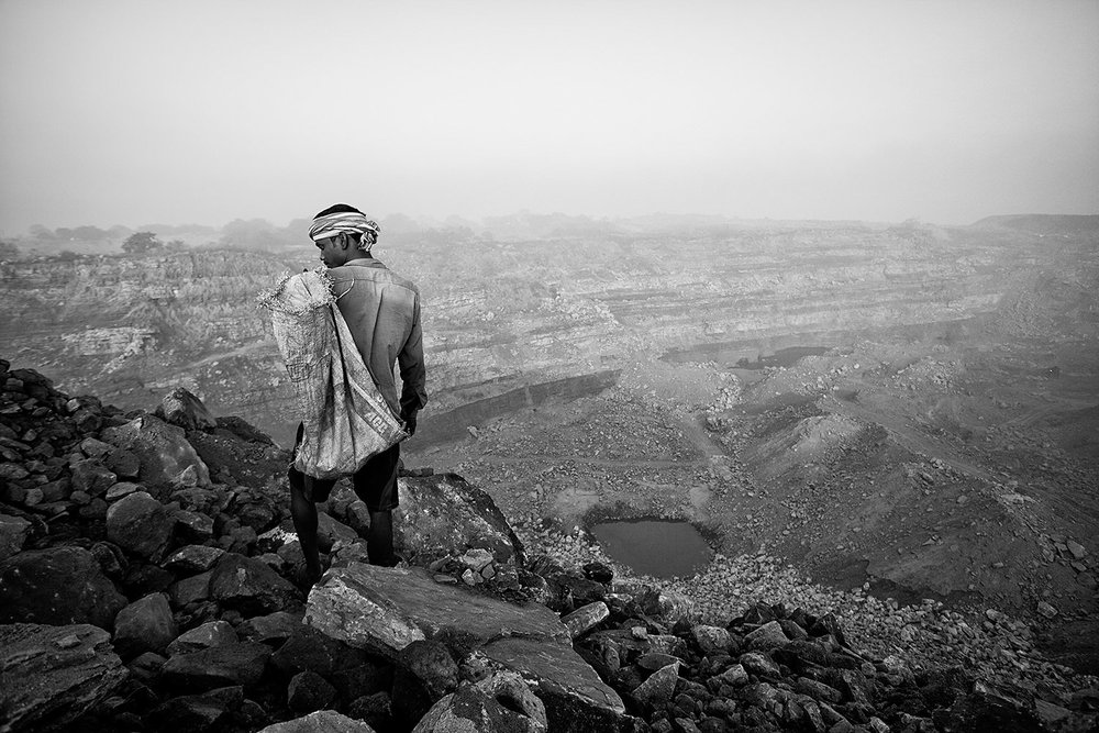 Jharia Mining - A view of a open mine