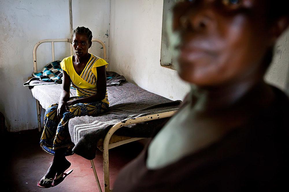 Clinic for pregnant women in Zambia