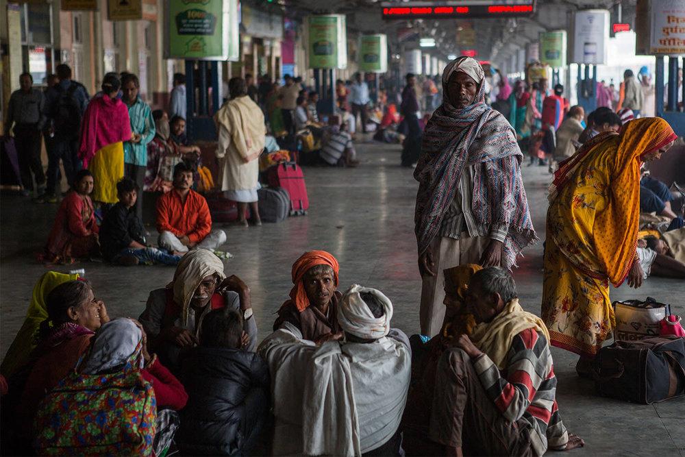 Aggra train station. India