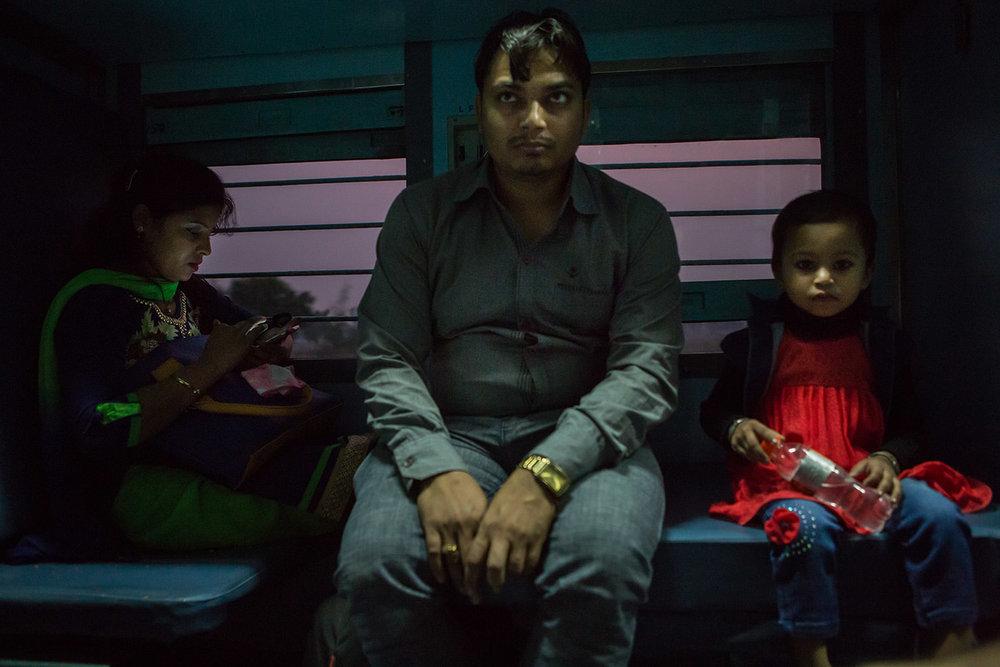Overnight train - India