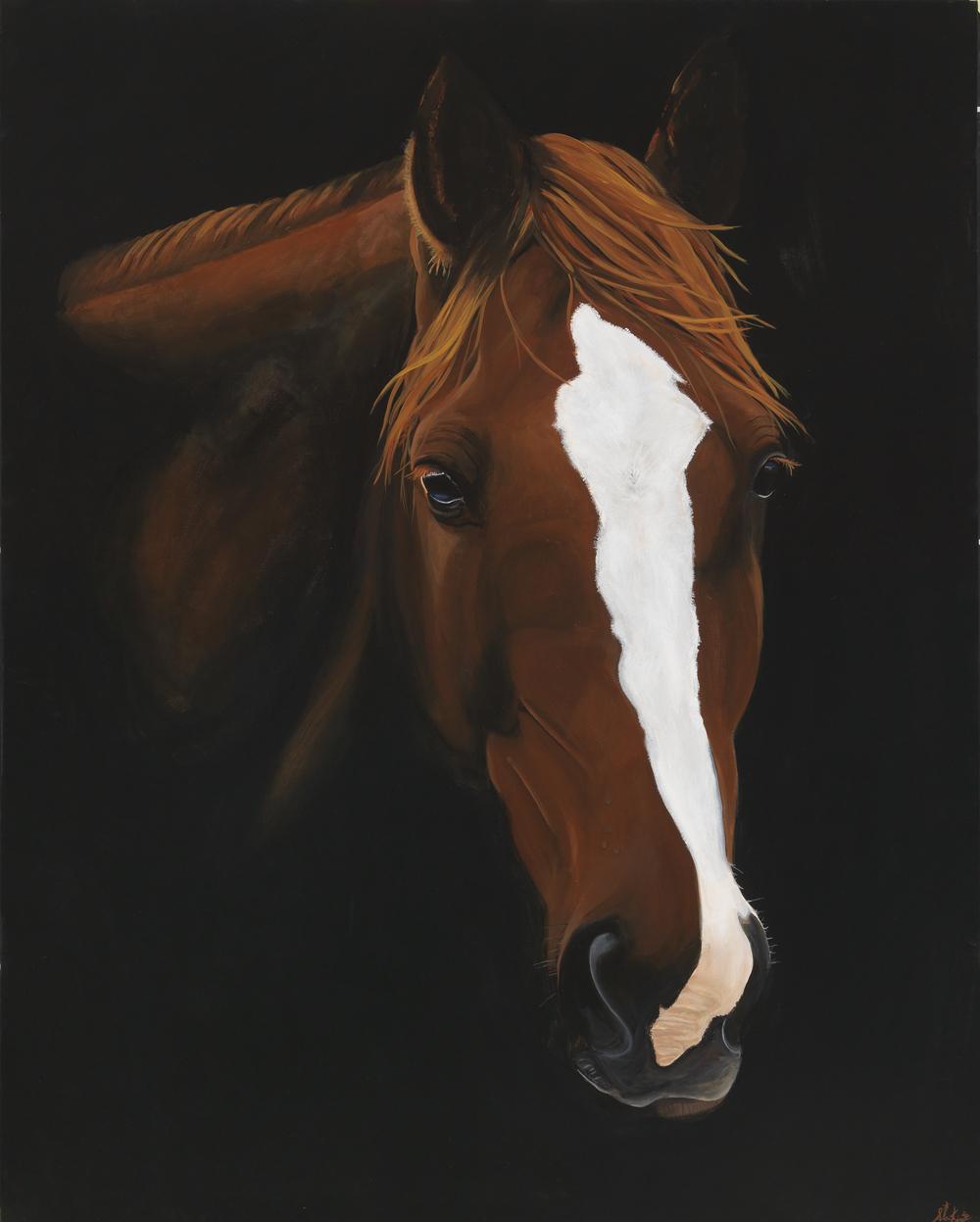 4ft x 5ft BAY ON BLACK  Acrylic on canvas.