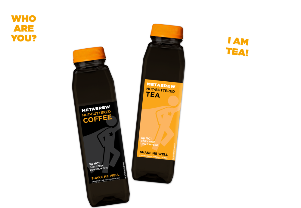 Metabrew nut-buttered coffee and nut-buttered tea give you better energy with less caffeine, and 5 mg of MCT oil