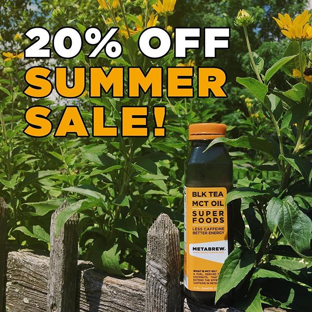 Refreshing, energizing, and now 20% off. Did someone say summer staple? Yeah, we did ☀️ . You know the drill, but to let you know anyway, the link's in our bio. 👀 . . #dothebrew #livemeta #metabrew #summersale #mctoil