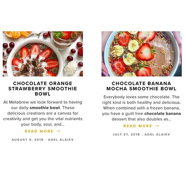 Is there anything that says summer like these tasty ⠀ 😋colorful 🌈 recipes that have floated onto our blog? ⠀ We hope you're basking at a pool with phone service so you can click the link in our bio and obsess over these with us 👀⠀ .⠀ .⠀ #livemeta #dothebrew #metabrew #ontheblog #smoothiebowl #caffeine #nyc #mctoil
