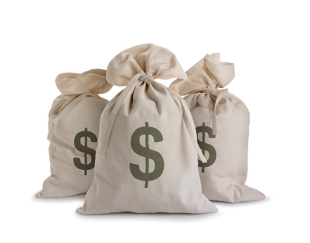 white bags with money symbol