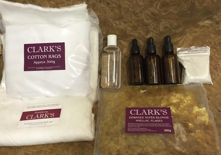 French Polishing Starter Pack with Shellac flakes