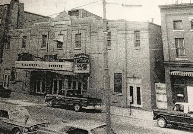 Newspaper clipping of the Colonial #downtownaugustamaine shortly after closing in 1969. #tbt #throwback