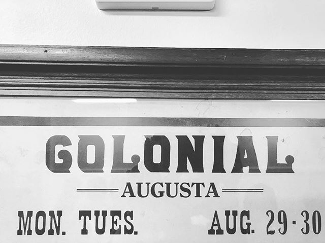 #tbt #lettering we think this is from the 1930s but can't be sure. This is on an old poster found in an antique shop. #maine #colonialtheater #downtownaugusta