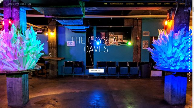 THE CRYSTAL CAVES  Website galleries from @dmsocialclub 's BASH: On Another Planet are live! If you didn't get a chance to view these beauties in person, this is your next best chance. Enjoy the photos!  www.codyryandesign.com  Thanks to Heather Whittlesey  for this one!