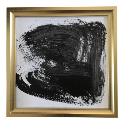 Original Gold Framed Abstract Painting — Tony Curry