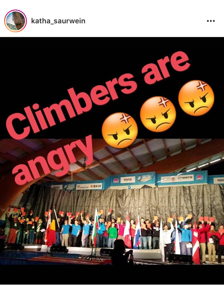 Many climbers took to social media to share the protest