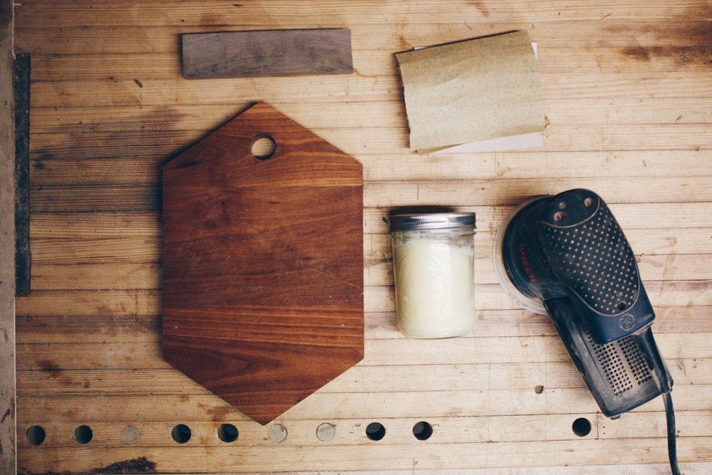 Easy to find materials you'll need to rehab your cutting board.